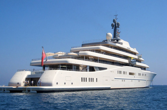 Abramovich's superyacht 'Eclipse' proves size does matter
