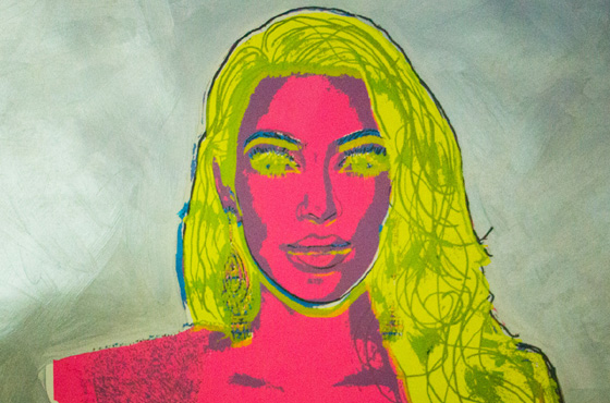 Kanye West commissions Andy Warhol's cousin to paint Kim Kardashian