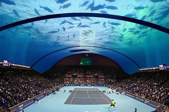 Dubai to Build World's First Underwater Tennis Stadium
