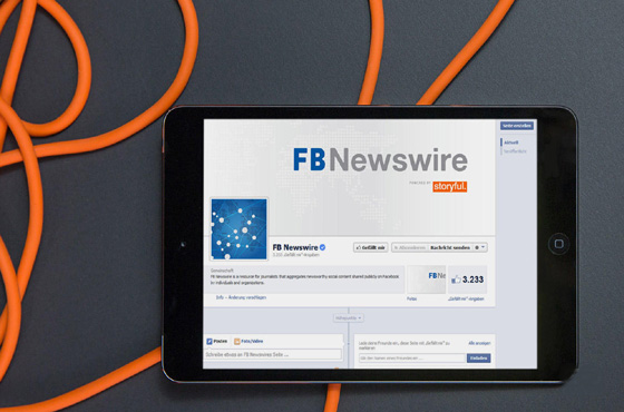 Facebook courts journalists with 'FB Newswire'