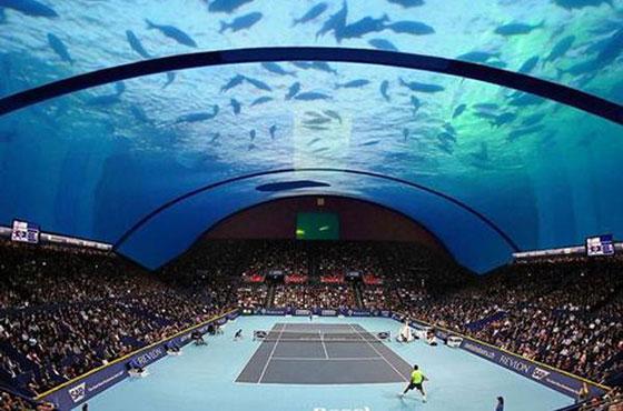 Dubai to Build World's First Underwater Tennis Stadium